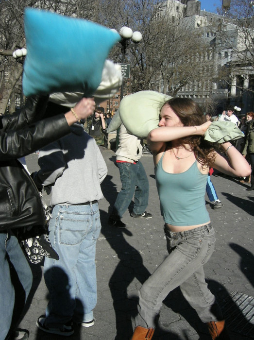 pillow fight nyc