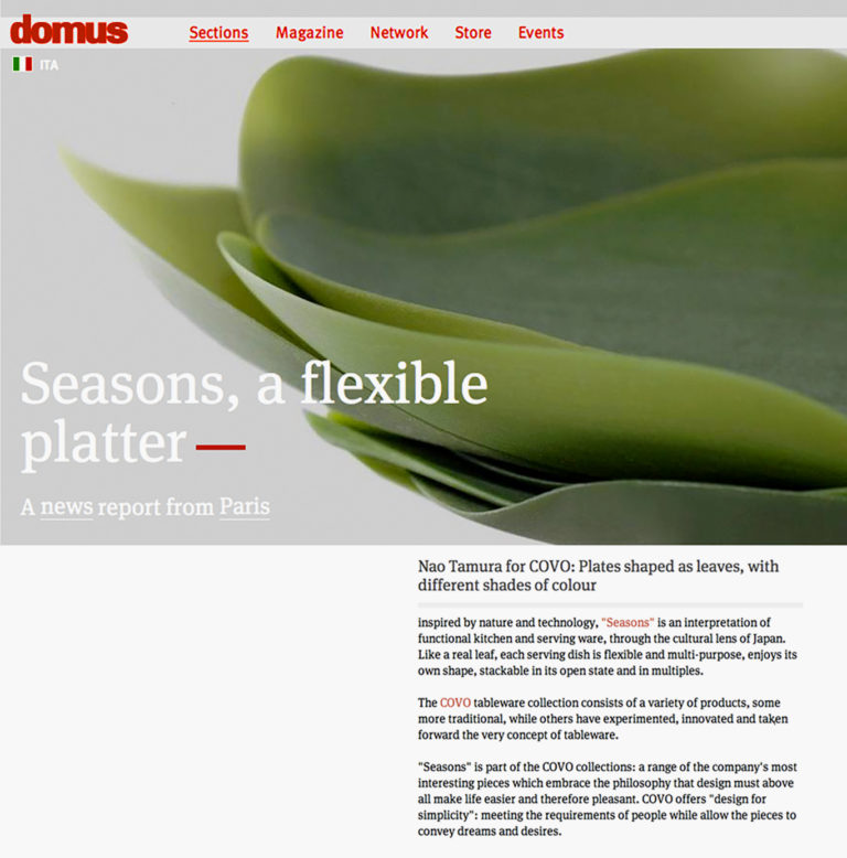 2010_Seasons_Domus01, covo, naotamura, seasons, plates, green