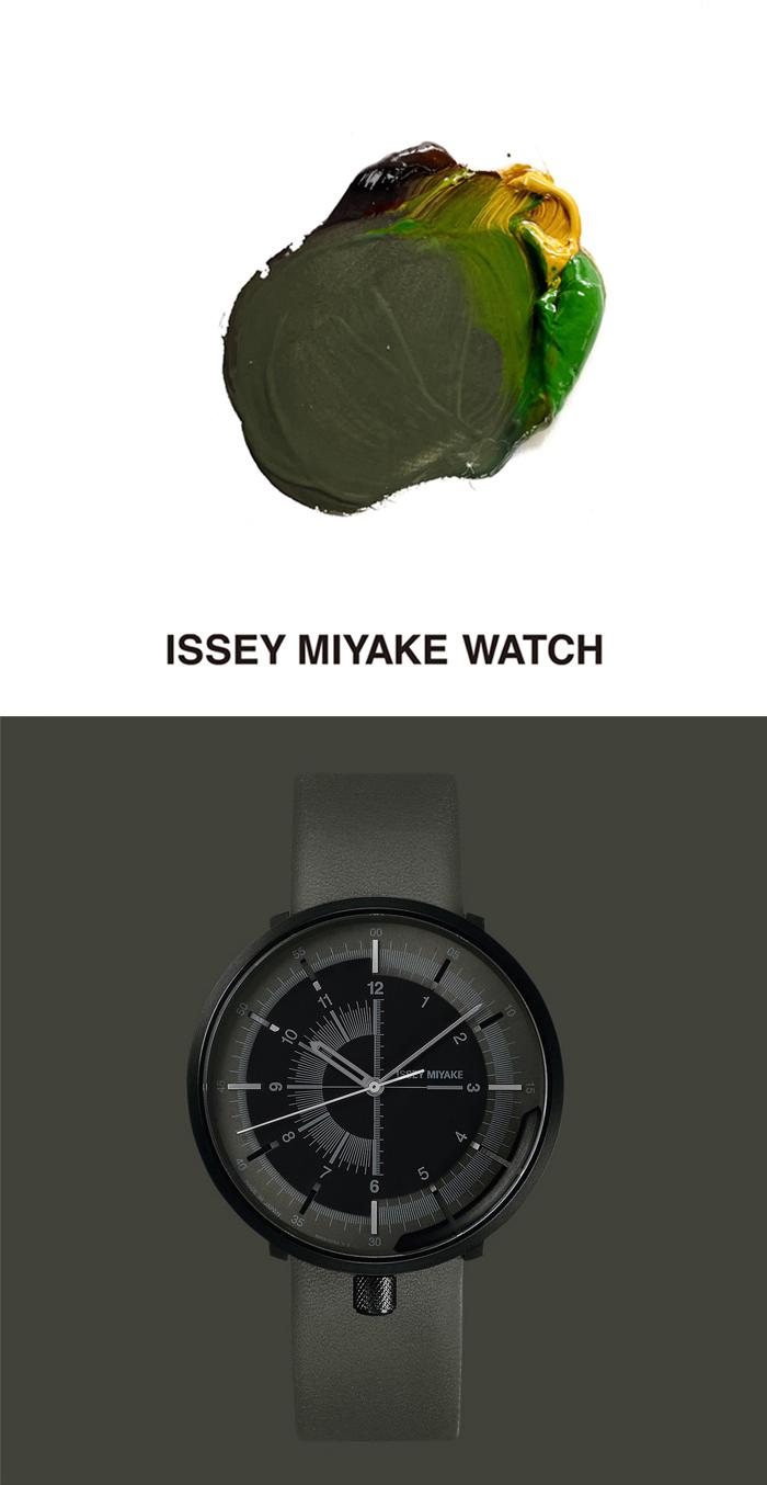ISSEYMIYAKE_NaoTamura, watch design, design, naotamura, green, khaki, 時計デザイン、時計、イッセイミヤケ、isseymiyakewatch